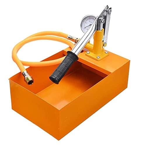 JAJU 1 Set Pompa Manuale per Test di Pressione, 25 kg 2,5 MPa per Test di Pressione idraulica dell'Acqua per Tester per condutture, per Test di Pressione di perdite d'Acqua delle valvole dei Tubi.
