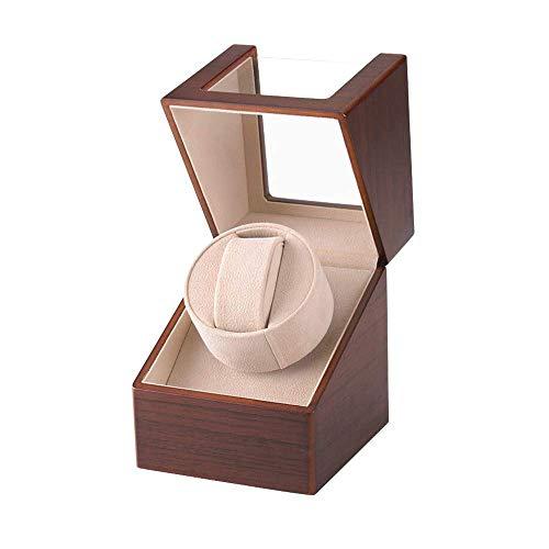 ワインディングマシーン(1本巻き) ウォッチワインダー 自動巻き時計ワインディングマシーン 日本製 マブチモーター 設計 新型の腕時計自動巻き上げ機、高級PU皮質、男女の腕時計は全部使えます 2021年アップグレード(木目調)