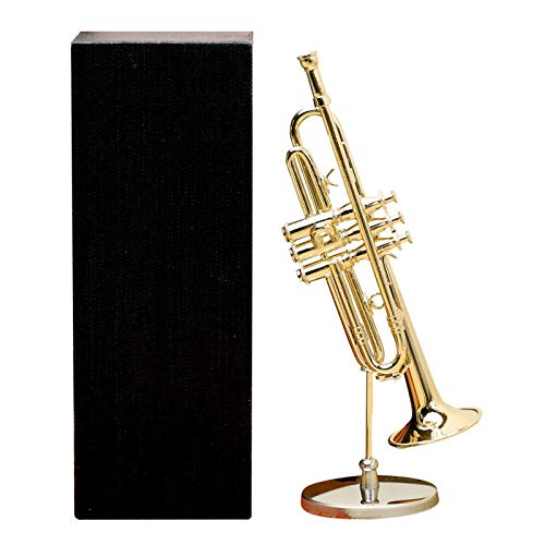 josietomy Copper Miniature Saxophone with Stand and Case, Mini Saxophone Musical Instrument Model Golden Plated Musical Ornaments