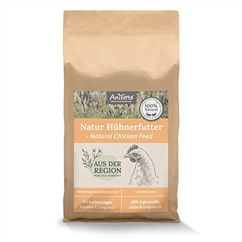 AniForte Natur Hühnerfutter Alleinfutter - Natürliche Rundumversorgung mit Oreganoöl, Alleinfutter für Hühner, Hochwertige Kräuter Mischung, unterstützt Verdauung & Immunsystem (3kg)