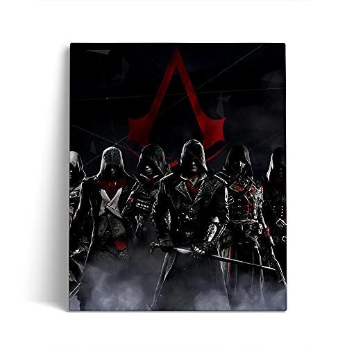 DIY 5D Diamant Malere Kits Assassin's Creed Altaïr IBN Movie Poster Kreuzstich-Kits Kristall Strass Stickerei Kinder Stickerei Set Kreuzstich Bilder Wall Decoration 40x50cm,Without Frame
