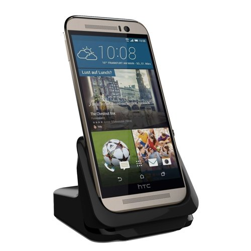 RND Dock for HTC M9 with USB Port (Compatible with or Without a Slim-fit case) (Black)