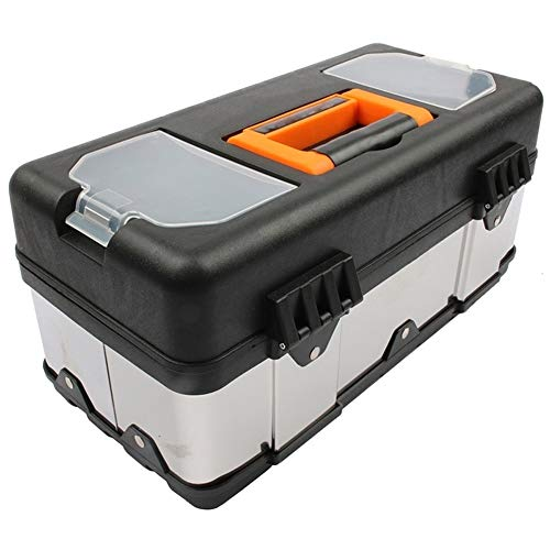 Gereedschapskist Qaulity Grote RVS Toolbox Huishoudelijk Onderhoud Elektricien Gereedschapskist gereedschapskist