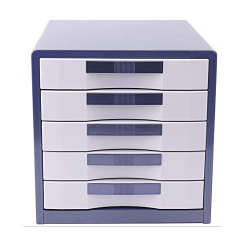 TXYJ 5-laags slot metalen bureaubladkast - datakabinet - ladekast - kantoorbenodigdheden (kleur: goud)