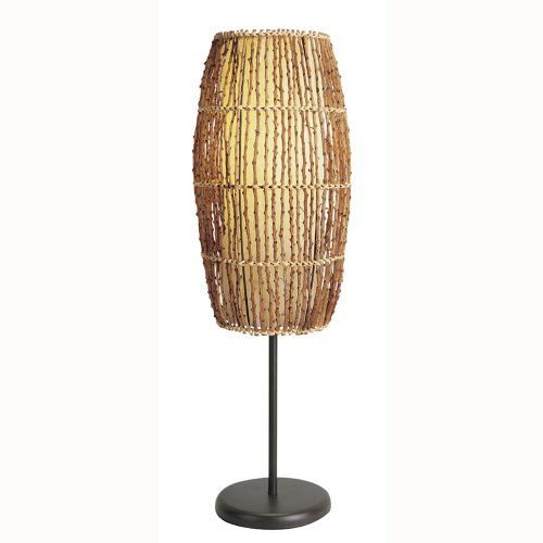 ORE International 31140T Rattan Table Lamp,Natural