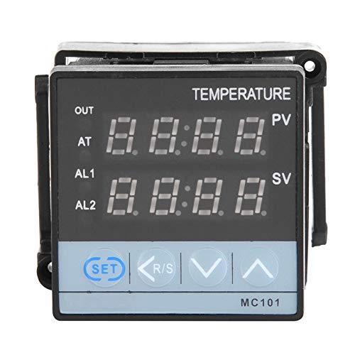 Controlador de temperatura de entrada universal Termostato Controlador de temperatura Termostato de calibración de temperatura MC101 portátil de alta precisión con sensor