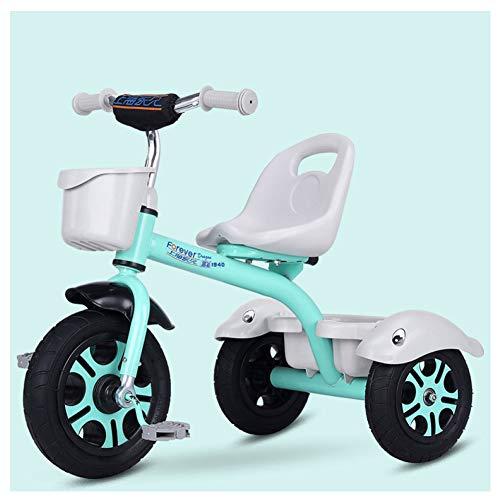 GIFT Premier Vélo Roue Molle Kids Tricycle Trike EVA, Siège Peut être Ajusté, Cadeau De Noël Nouvel an 2-6ans,H