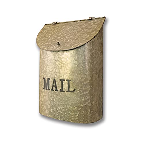 NACH FZ-M1003G Rothko Mailbox, Rustic Gold Galvanized Metal