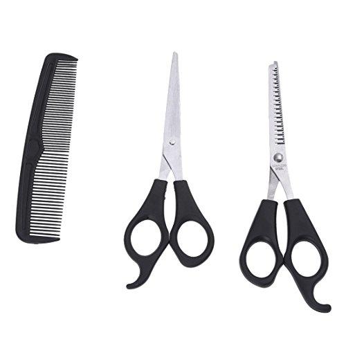 HLPIGF Corte 3 Pcs Set Peluqueria Hair Scissor y Adelgazamiento Tijeras + Comb