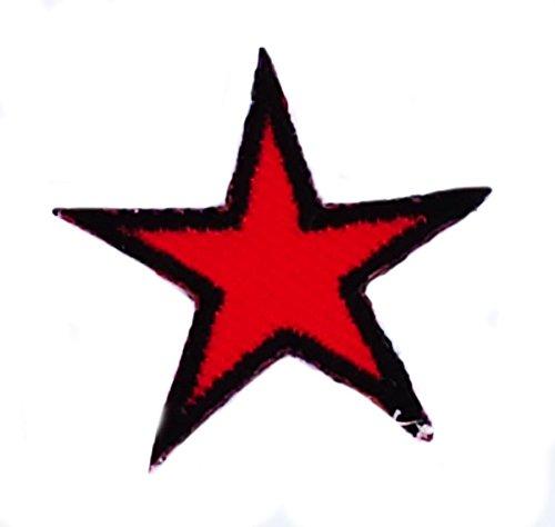 Patch Stern Che Guevara zum Aufbügeln, bestickter Aufnäher roter Stern Kuba