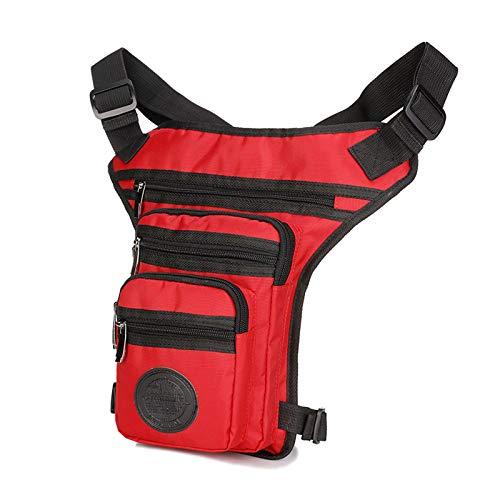 JTKDL Bolso de Cintura Duradera Multifunción Hip Bag Bag Bolsa DE Viajes (Color : Red)