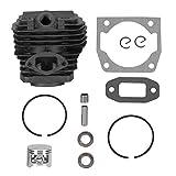 xiji Kit de Cilindro, Accesorio de Motosierra, Cilindro de Motosierra de 45 mm, Estable, Resistente al Desgaste, Duradero para Motosierra de jardín