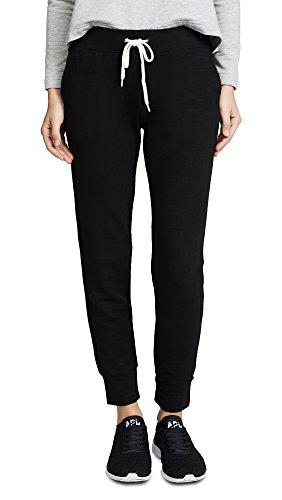 Monrow Women's Sporty Sweatpants, Black, Small