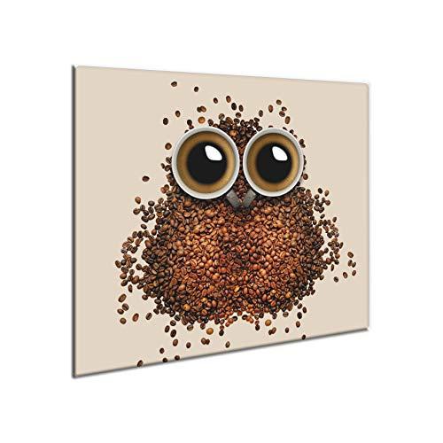 CTC-Trade | Herdabdeckplatten 60x52 cm Ceranfeld Abdeckung Glas Spritzschutz Abdeckplatte Glasplatte Herd Ceranfeldabdeckung Küche Braun Kaffee