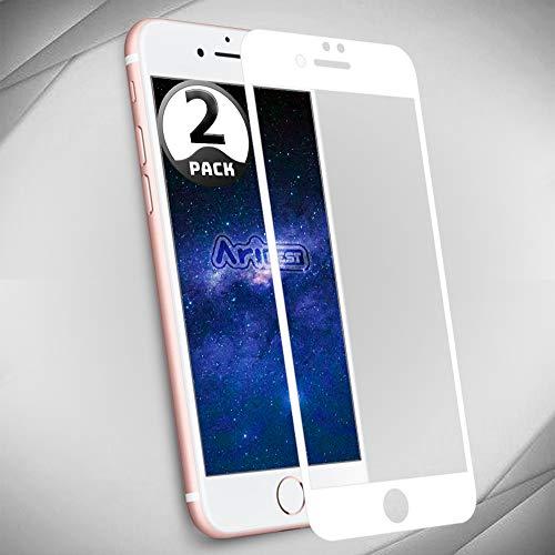 iPhone 7 Plus Protector de Pantalla [2 Unidades] Aribest iPhone 7 Plus Protector de Pantalla Cristal Templado para iPhone 7 Plus 5.5 3D 9H Dureza (0.33mm 3D edge to edge)