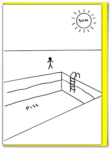 Humorvolle Grußkarte David Shrigley Piss Pool