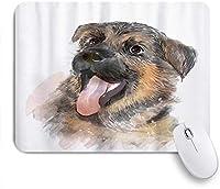 ZOMOY マウスパッド 個性的 おしゃれ 柔軟 かわいい ゴム製裏面 ゲーミングマウスパッド PC ノートパソコン オフィス用 デスクマット 滑り止め 耐久性が良い おもしろいパターン (幸せな表情の純血種の子犬のジャーマンシェパードの肖像画)