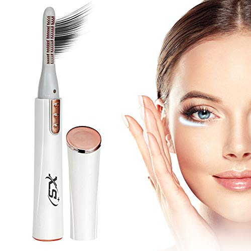 Heated Eyelash Curler, Portable Electric Eyelash Curler, Quick Natural Curling and Long Lasting
