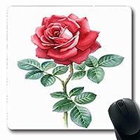 長方形の快適滑り止めマウスパッドブルーム水彩ローズ芸術的な花自然手長方形の形7.9 X 9.5インチ滑り止めラバー快適滑り止めマウスパッドゲーミング快適滑り止めマウスパッド