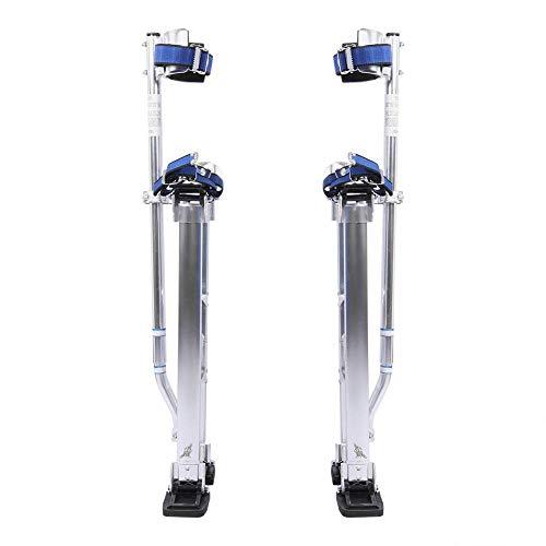 24-40 Pulgadas (61-102cm) Aleación de Aluminio Profesional Ajustable Pilotes de Drywall Zancos de Revestimiento Herramienta de Pintor (Plata)