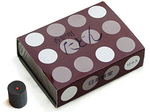 Tierra Zen 927 Ersatzkohlen Japan für Räucherfässer, Parfum, Schwarz, 3 cm.