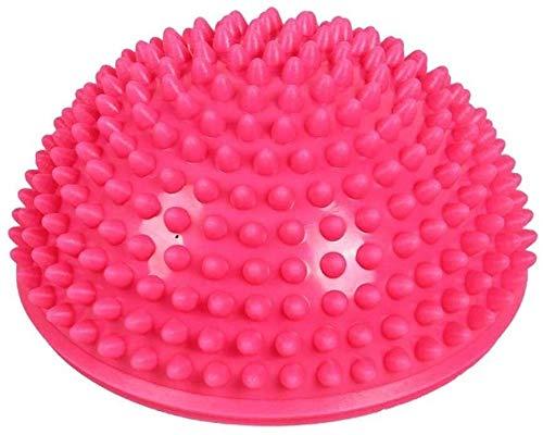 Gimnasio pelota de parto pelotas de Pilates bola de masaje de punta suave inflable media esfera Yoga Trainer bolas de masaje Bola de equilibrio (rosa) for el Yoga, Pilates, Fitness, Trabajo Embarazo