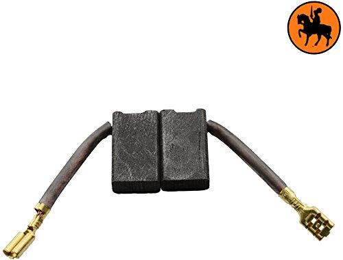 Buildalot Specialty koolborstels ca-17-15221 voor DeWalt verstekzaag DW718XPS - 6,3x12,5x21,5mm - Met automatische uitschakeling, veren, kabel en stekker - vervanging voor originele onderdelen 381028-02