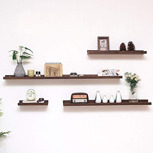 AFQHJ Display planken Zwevende planken Multifunctionele Houten Wandplanken Rustieke Zwevende Plank Opslagrek Voor Foto's, Decoraties Beige|Bruin