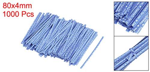 Empty Leere 1000 Stück Papier Twist Krawatten 3,15 Zoll Qualität zum Binden von Geschenktüten Art Craft Krawatten Verwalten von Schnüren Blau, Blau