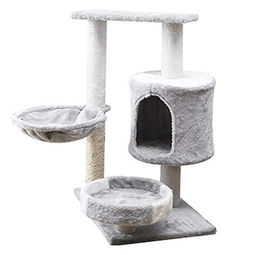 Alberta Torre de Gato Cat Tree Stimbing Pet Pequeño Cat Multi-Capa Cat Stimbating Cat Toy Cat Jumping Platform Cat Marco Cat Tower Cat Villa Cat Estantería para Gatos Interiores