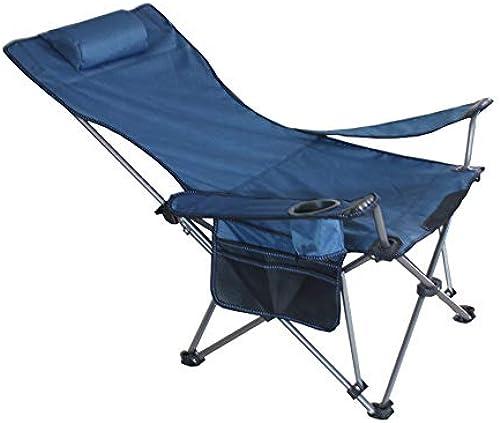 LEYOUDIAN Zhedieyi Outdoor Klappstuhl Fischerstuhl tragbare sitzende Liege Lounge-Strandkorb mit doppeltem Verwendungszweck (Farbe   Blau)