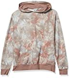 AG Adriano Goldschmied Men's Curry Pullover Hoodie, Abstract Tiedye Rocky Mauve, XL
