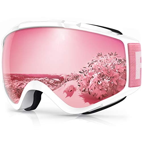 findway Ski Goggles, 100% UV Protection OTG Snow Goggles for Men, Women & Youth