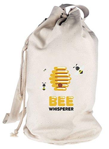 ShirtStreet Imker bedruckter Seesack Umhängetasche Schultertasche Beutel Bag Bee Whisperer, Größe: onesize,natur