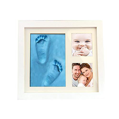 Demarkt Cadre Photo Enregistrer Bébé Les Empreintes Du Pied Et Main, Deco Bebe, Cadre Bébé, Empreinte De Bébé, Mémorable Décorations Murale Cadres En Bois Bleu 1PC