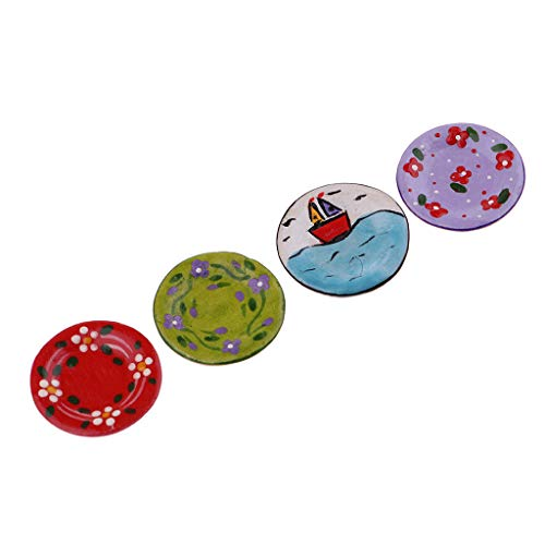 4 Piezas Miniatura Platos de Vajilla de Casa de Muñecas Escala 1/12 - #2