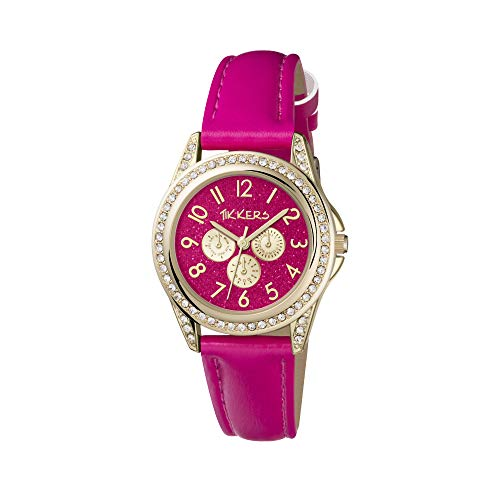 Tikkers Girl's Analogue Quartz Watch with Imitation Leather Strap TK0130