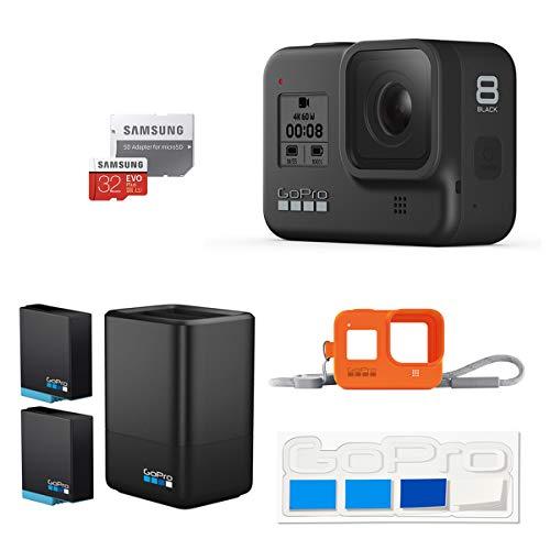【GoPro公式限定】GoPro HERO8 Black + デュアルバッテリーチャージャー+バッテリー + スリーブ+ランヤード + 認定SDカード + ステッカー 【国内正規品】