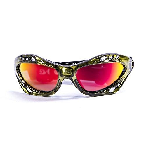 OCEAN SUNGLASSES - Cumbuco - lunettes de soleil polarisÃBlackrolles - Monture : Vert Transparent - Verres : Revo Jaune (15001.5)