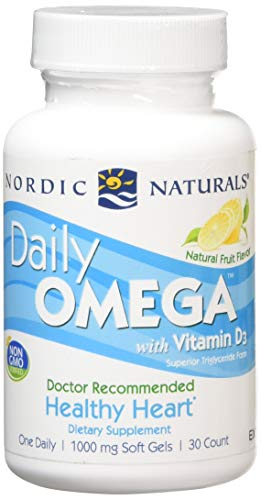 1000mg Daily Omega with Vitamin D3 30 Softgels