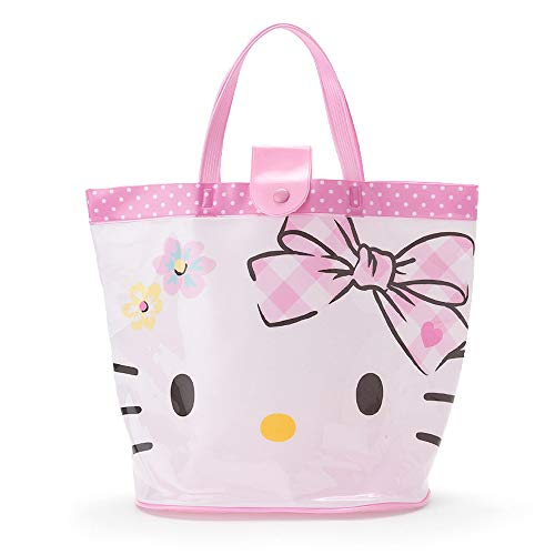 Sanrio Hello Kitty Plastic Tote Bag for Pool Beach 34x15x26cm Pink 294152 from Japan