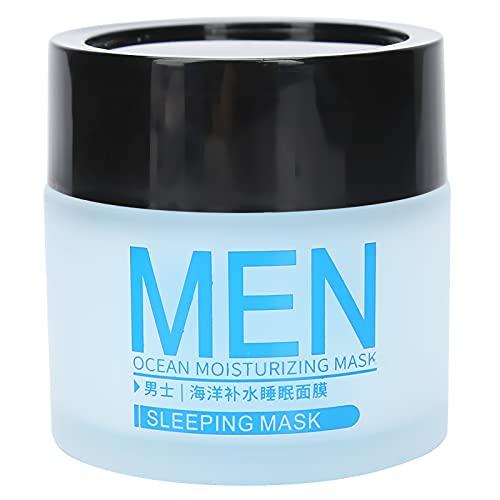 Mascarilla de lavado gratis para hombres de 70g, mascarilla hidratante hidratante facial para el cuidado de la piel, mascarilla facial de noche con control de aceite