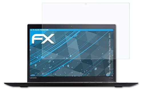 atFolix Schutzfolie kompatibel mit Lenovo ThinkPad X1 Yoga 2nd Gen. 2017 Folie, ultraklare FX Bildschirmschutzfolie (2X)