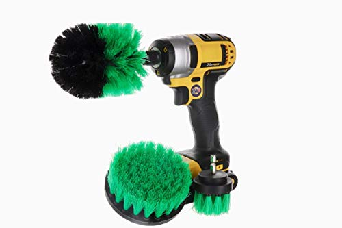DRILL BRUSH 360 Drill Attachments 3 Pack kit - Power Scrubber Brushes for Drill- All Purpose...