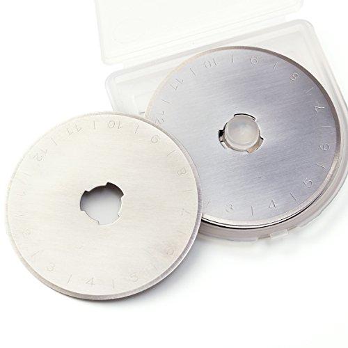 10tlg 28mm Ersatzklingen für Rollschneider Schneidmesser Stahl mit Aufbewahrungsbox