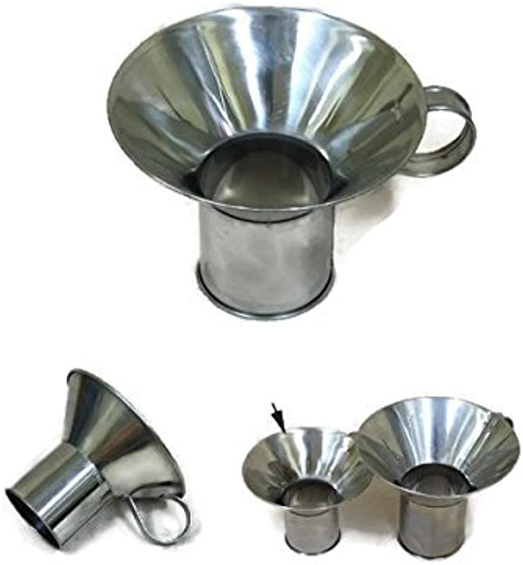 Big Sized Canning Funnel Wide Mouth Funnel Stainless Steel Mouth 6 Stem 2 5