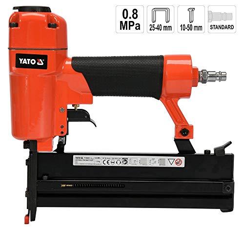 Druckluft-Nagler Kombi für Klammern 25-40 mm und Stifte 10-50 mm Streifennagler Klammergerät Tacker