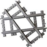 Incliné Binario a croce personalizzato compatibile, Binari a croce dritta crossover, Compatibili con rotaie e set treni, Accavallare, Compatibile con il marchio leader, Rotaie diritte compatibili