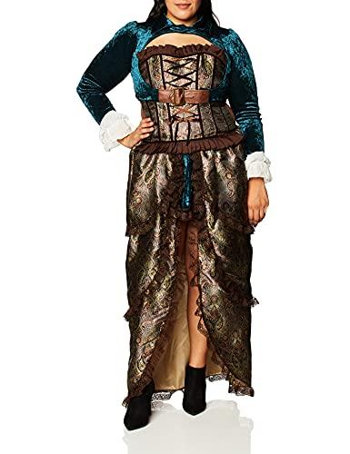 Forum Novelties Novelties-X75015 X75015 Costume de Dame Steampunk, Multicolore, UK 10-12