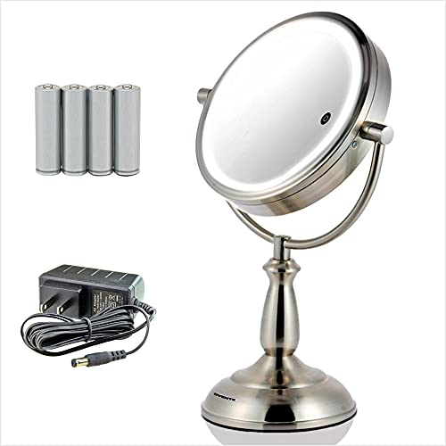 Ovente Lighted Vanity Mirror Tabletop, 7.5